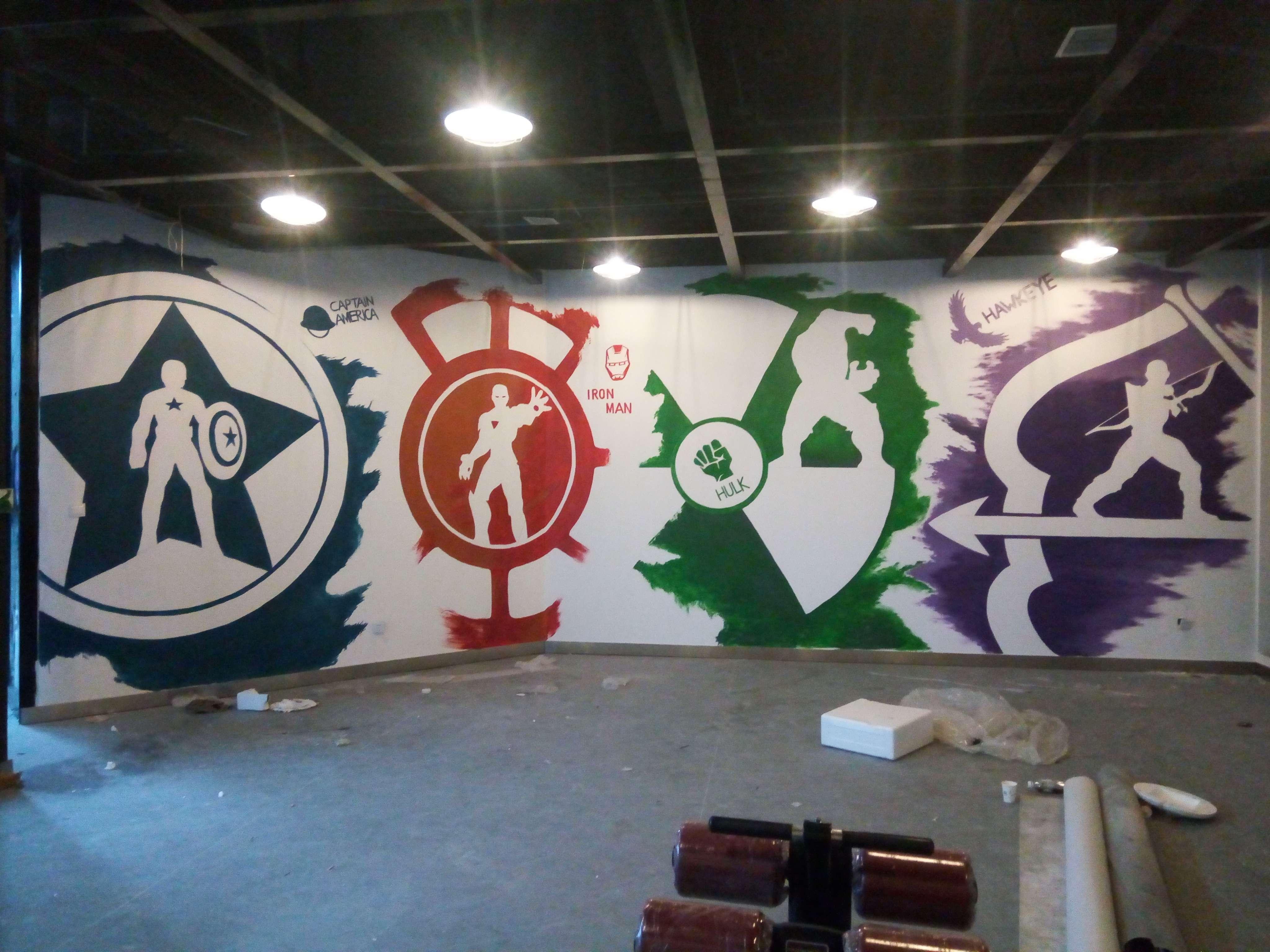 健身房墙绘